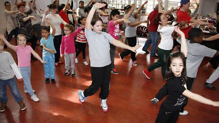 Generous dancers bust a move in the name of charity at Beckton Community Centre.