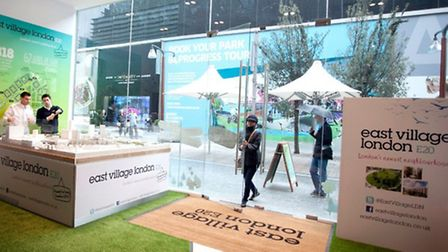 Front of the new East Village pop up shop at Westfield Stratford City,