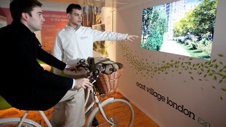 A punter being given a virtual cycle tour of the new neighbourhood.