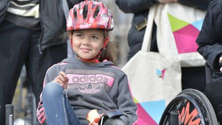Participant Lauraline Mantlett from Tower Hamlets during the ' All Ride Celebration Event '