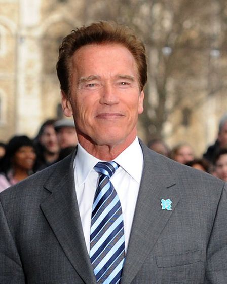 Arnold Schwarzenegger when he visited the capital ahead of the London Olympics