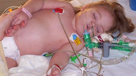 Molly Bath was in intensive care fighting for her life at the St Mary's intensive care unit in Paddi
