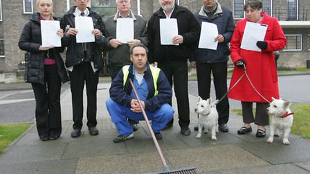 Jeff with some of his supporters and their petition