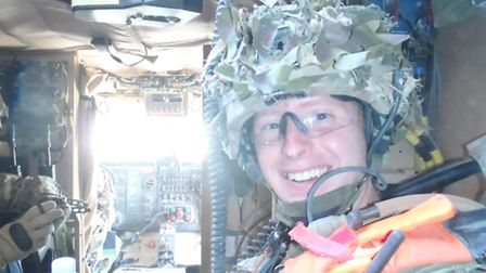 Royal Marine Commando Andrew Bartlett's family will be giving him a hero's welcome on Saturday