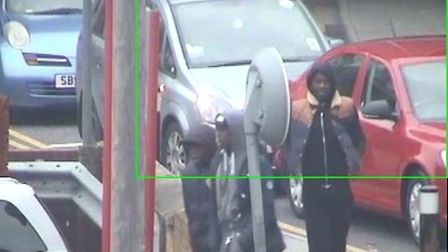 CCTV images of the men wanted in connection to the incident