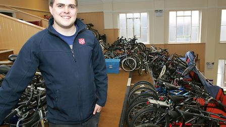 Lt John Clifton with some of the bikes