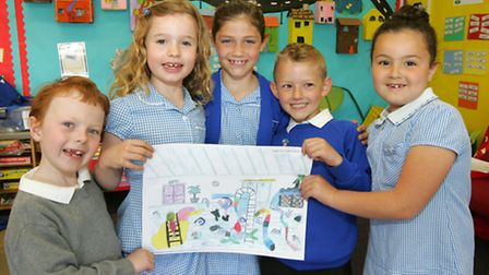 Children from Towers Infant School, are contributing towards a calendar made by The Liberty Shopping