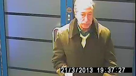 Police want to speak to this man in connection with two stolen laptops