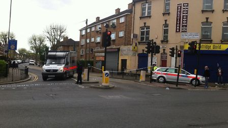 Katherine Road, Forest Gate, was closed off following the incident on Thursday afternoon. Picture: L