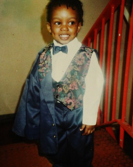 A collected pictured of Samuel Adelagun at the age of three, who was shot dead in Plaistow in 2010.
