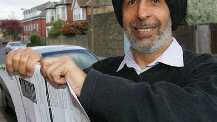 Harmander Singh paid his wife's initial parking fine