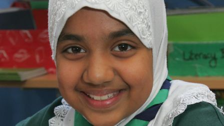 Hafsa Gachi, nine, chatted to the Duchess of Cambridge