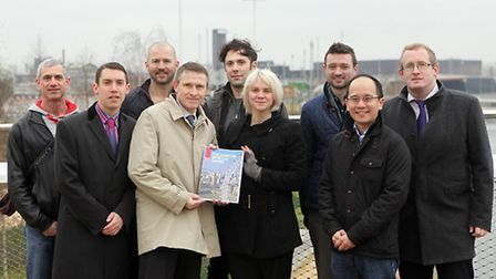 Councillor Richard Crawford, executive member for community affairs with the bid team and their host