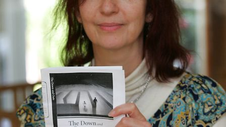 Author Karen Clark with her new book The Down and Outs