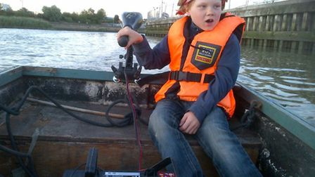 Nine-year-old Tom Myers is navigating the River Lea to raise money for a pedestrian bridge at Cody D