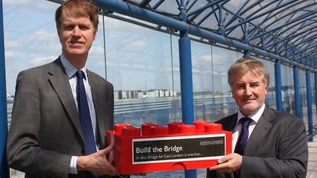 East Ham MP Stephen Timss and CEO of London City Airport Declan Collier are backing a campaign for n