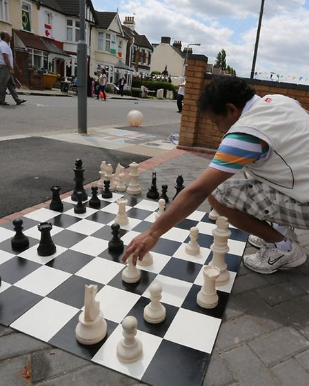 Chess with a difference in Auckland Road, Ilford