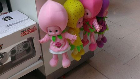 Dolls which may contain a dangerous chemical called DEHP were on sale in the Exchange Ilford shoppin