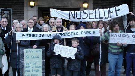 Residents stage protest against plans to sell off Upminster park car park