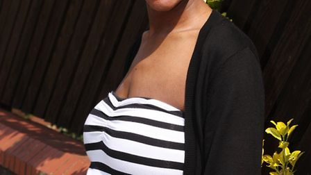 Expectant mother Shara Bennett, from North Woolwich.