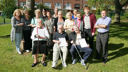 Garrick House, Adelphi Crescen residents are opposed to plans for new bungalows