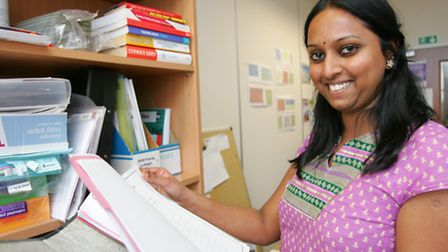 Redbridge volunteer Krithika Subramanian helps with admin and other tasks at the centre