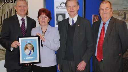 Andrew Rosindell presented Havering Museum with a portrait of the Queen