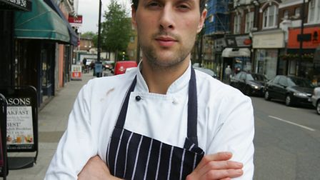 Louis Martin, 26, a chef from Seasons restaurant in Woodford Green