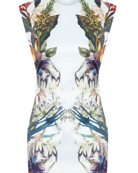 Undated Handout Photo of Missguided Beverly mirror print dress, £29.99 (www.missguided.co.uk). See P