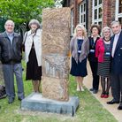 The new sculpture trail at Redbridge Institute was opened by Lee Scott, second from right