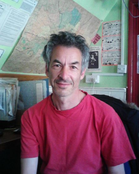 Myk Zeitlin, a volunteer at Advisory Service for Squatters