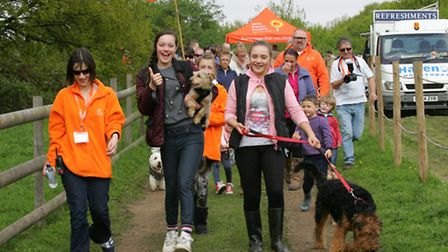 More than 300 people and 200 pooches took part in the walk