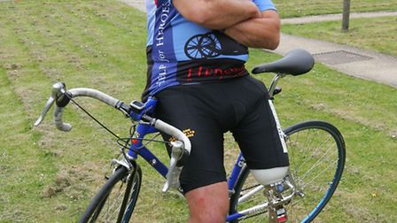 Malcolm Hingle is about to set off on a Paris to London bike ride in aid of Help for Heroes