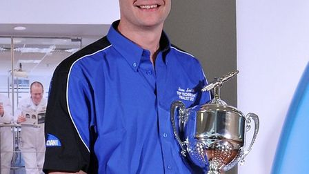 Steve Smith with his trophy