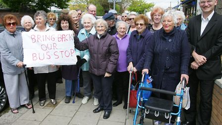 Residents have long called for the bus stop to be reinstated