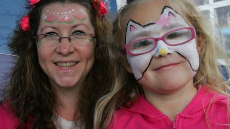 Amelia Patchett had her face painted by Curly Jo