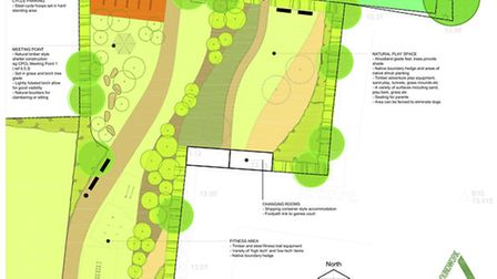 The plans for the new Vicarage Lane Play Park.