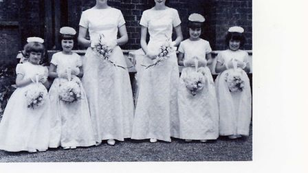 The six bridesmaids pictured in 1965