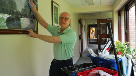 Lottery-winner Tony has worked at the hospice since 2004