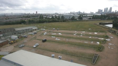 The Riverine Centre mosque site, currently used by around 3.000 worshippers