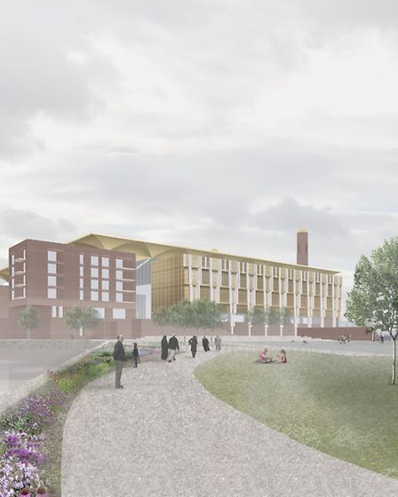 An artist's impression of the proposed plans for the Riverine Centre mosque complex