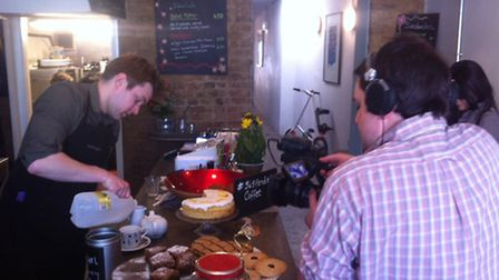 TV Tokyo filming at Coffee7 in Forest Gate