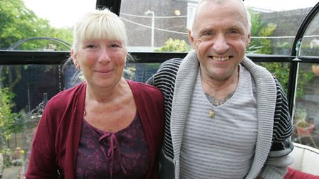 Residents Anita Lacey and Eddie DeMarco