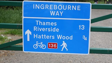 The new route follows close to the Ingrebourne River