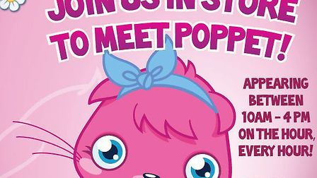 Moshi Monster Poppet will be coming to The Brewery, Romford, next weekend.