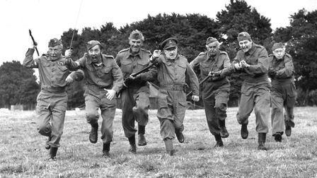 20th August 1970: The cast of 'Dad's Army', a popular tv series depicting the activities of the Hom
