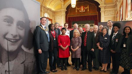 """The """"Anne Frank + You"""" exhibition is launched at the East Ham Town Hall."""