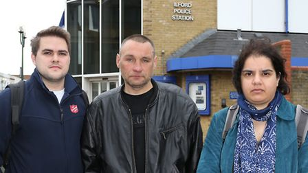 From left: John Clifftonwith a second homless man who claims to have had his sleeping bag taken and