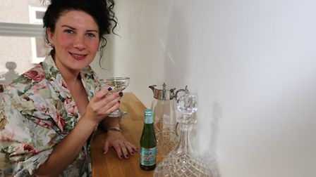 Natalie Howard has set up her own homeware company. Her with some of her kitchen sets.
