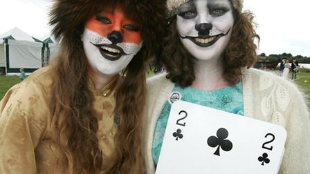 Isolde Godfrey, and Catherine Dunne, (Foxy and Husk), at last year's fair